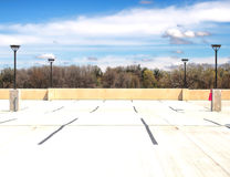 Parking garage roof. Newly built Royalty Free Stock Image