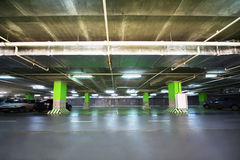Parking garage of shopping center Stock Images
