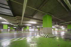 Parking garage of shopping center Royalty Free Stock Photos