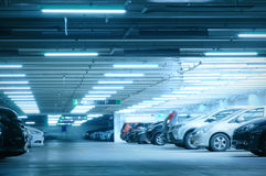 Parking garage. In Taiwan shopping mall Royalty Free Stock Photography