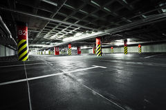 Parking garage, underground architecture royalty free stock photos