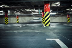Parking garage underground, blurred Stock Images