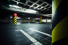 Parking garage underground building Royalty Free Stock Photography