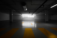 Parking garage underground Stock Photography