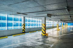 Parking garage underground, industrial interior Royalty Free Stock Photos