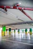 Parking garage, underground interior Royalty Free Stock Images