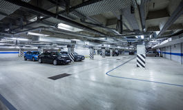 Parking Garage, Underground Interior Stock Image