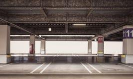 Parking garage underground interior Stock Images