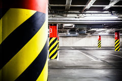 Parking garage underground interior Royalty Free Stock Image