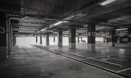 Parking garage underground interior Royalty Free Stock Photos