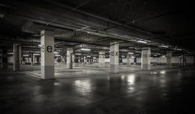 Parking garage underground interior Royalty Free Stock Image