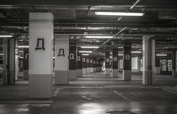 Parking garage underground interior Royalty Free Stock Photography