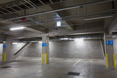 Parking garage underground Stock Images