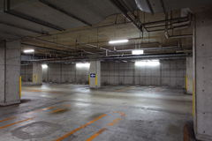 Parking garage underground Royalty Free Stock Image