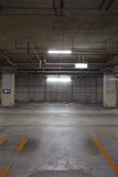 Parking garage underground Royalty Free Stock Photos