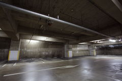 Parking garage underground Stock Image
