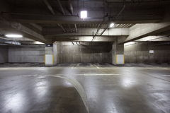 Parking garage underground Stock Photo
