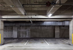 Parking garage underground royalty free stock images