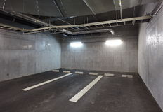 Parking garage underground Royalty Free Stock Image