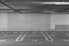 Parking garage underground Royalty Free Stock Photography