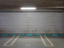 Parking garage underground Stock Images