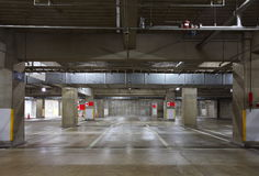 Parking garage underground Royalty Free Stock Images