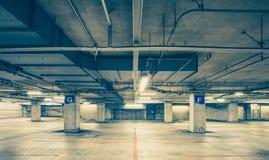 Parking garage underground Stock Photos