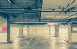 Parking garage underground Stock Photography