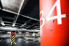 Parking garage underground interior Royalty Free Stock Photography