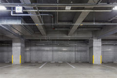 Parking garage underground interior Stock Image