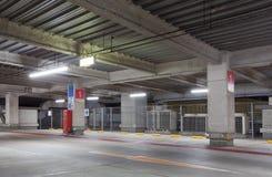 Parking garage underground interior Stock Image