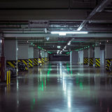 Parking garage, underground interior with a parked cars Royalty Free Stock Image