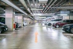 Parking garage underground Royalty Free Stock Photos