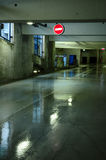 Parking garage with wet floor Stock Photography