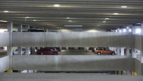 Parking Garages, Cars, Lots, Shopping stock video