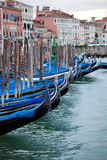 Parking gondolas at St. Marco Square Royalty Free Stock Photography