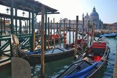 Parking of gondolas Stock Photos