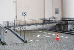 Parking handicapé Photos stock