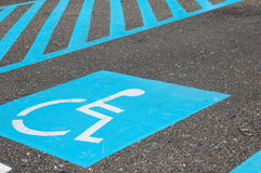 Parking handicapé image stock