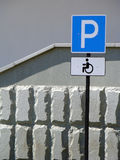 Parking for handicapped drivers Royalty Free Stock Photo