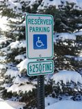 Reserved handicap parking royalty free stock photography