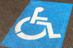 Parking for handicapped Stock Photos