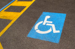 Parking for handicapped Royalty Free Stock Photo