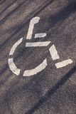Parking for handicapped persons symbol on the asphalt. In Germany Royalty Free Stock Photos