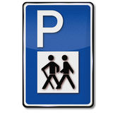 Parking for hikers and biking trail Royalty Free Stock Image