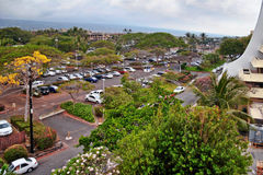 Parking of the hotel Royal Kona Resort Royalty Free Stock Photography