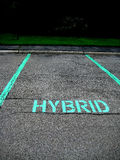 Parking for hybrid car. Picture of the parking for hybrid car Stock Photography