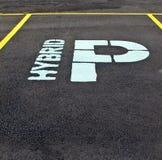 parking hybrydowy znak Obrazy Stock