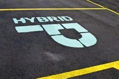 parking hybrydowy znak Zdjęcia Stock