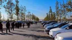 Parking i odprowadzenia Yenikapi Istanbuł ludzie obrazy royalty free